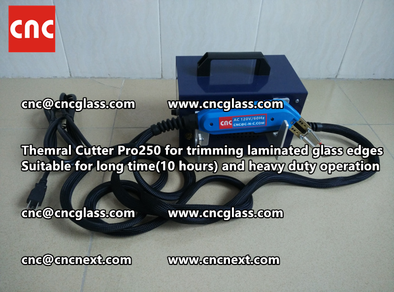 Thermal cutter hot knife heavy duty for trimming laminated glass edges (8)